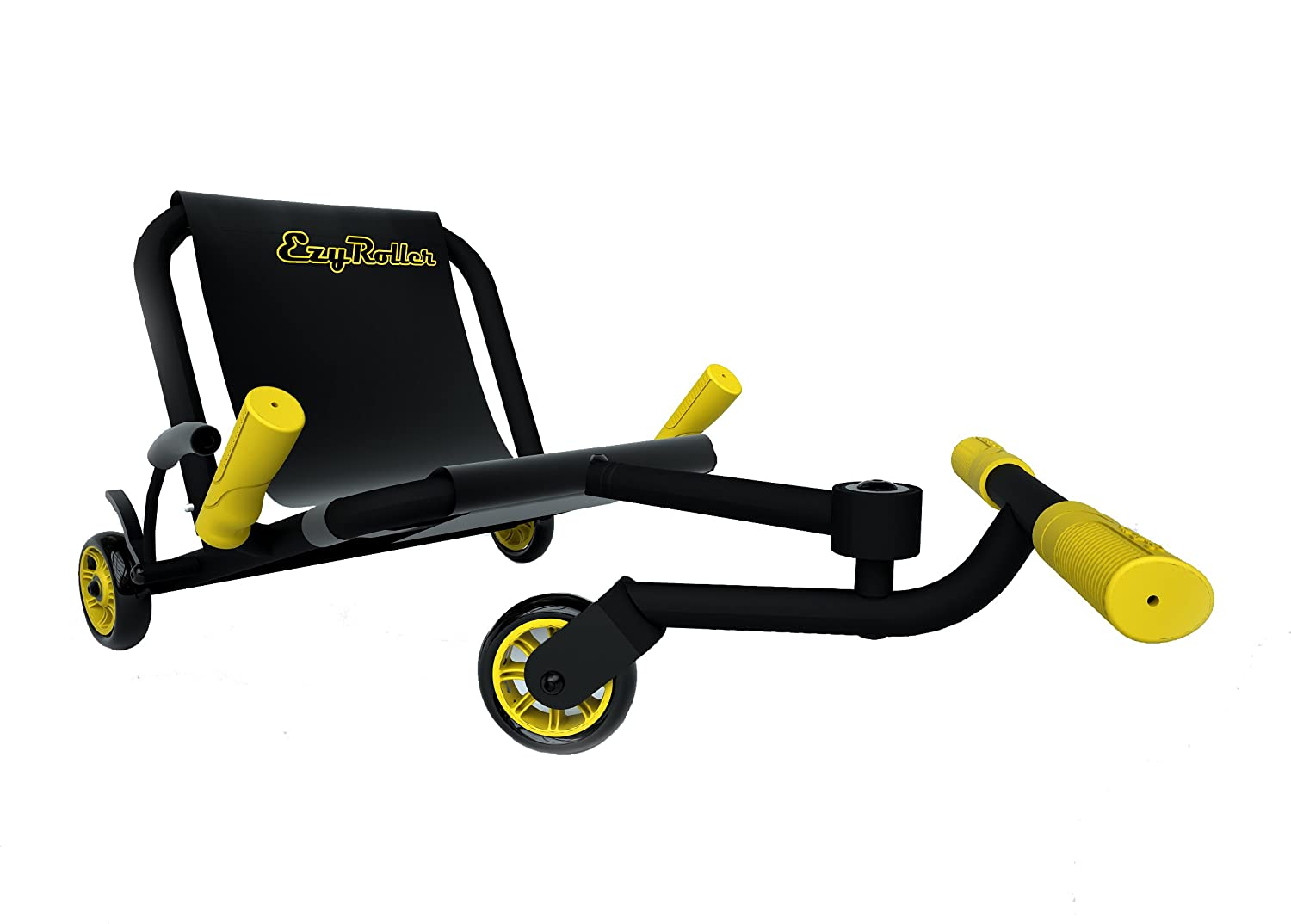 EzyRoller Classic Ride On - Black with Yellow Accessories