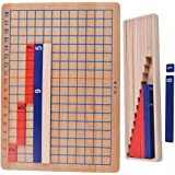 MagiDeal Wooden Montessori Mathematics Teaching Material Addition Subtraction Board Mini Family Set Kids Early Educational Toy