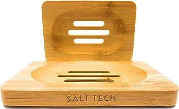 Salt Tech Classic Bamboo /& Wood Soap Dish Bamboo #2 2pc