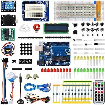 para los Kits de Accesorios Arduino Starter Kit for Lern Arduinos con for UNO R3 Tarjeta de Desarrollo: Amazon.es: Juguetes y juegos