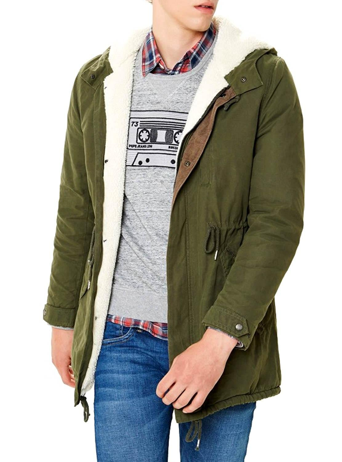 best cheap ff29f a4564 Parka Pepe Jeans Cadogan Green S Green: Amazon.co.uk: Clothing