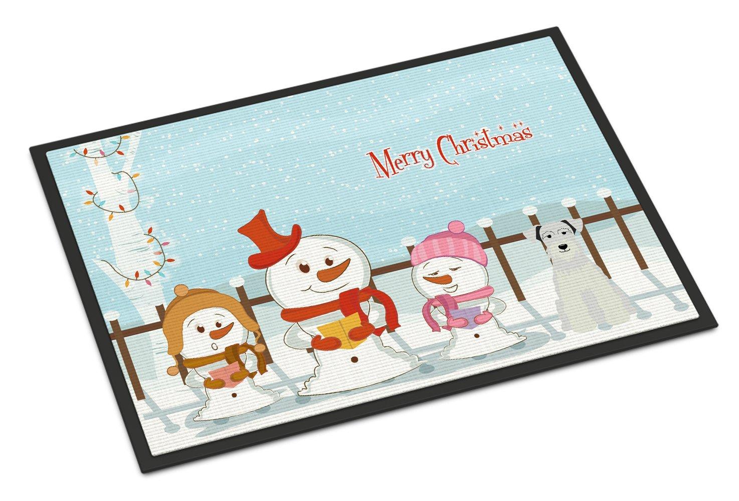 Carolines Treasures Merry Christmas Carolers Miniature Schanuzer White Indoor or Outdoor Mat 24x36 BB2384JMAT 24 x 36 Multicolor