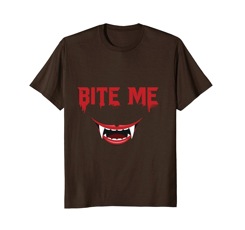 Bite Me Halloween T-shirt - Vampire Teeth, Vampire Shirt-mt