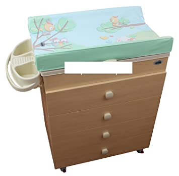 Changing Dresser Asia Cam with Tray Bath Natural 225 Owl New Colour ...