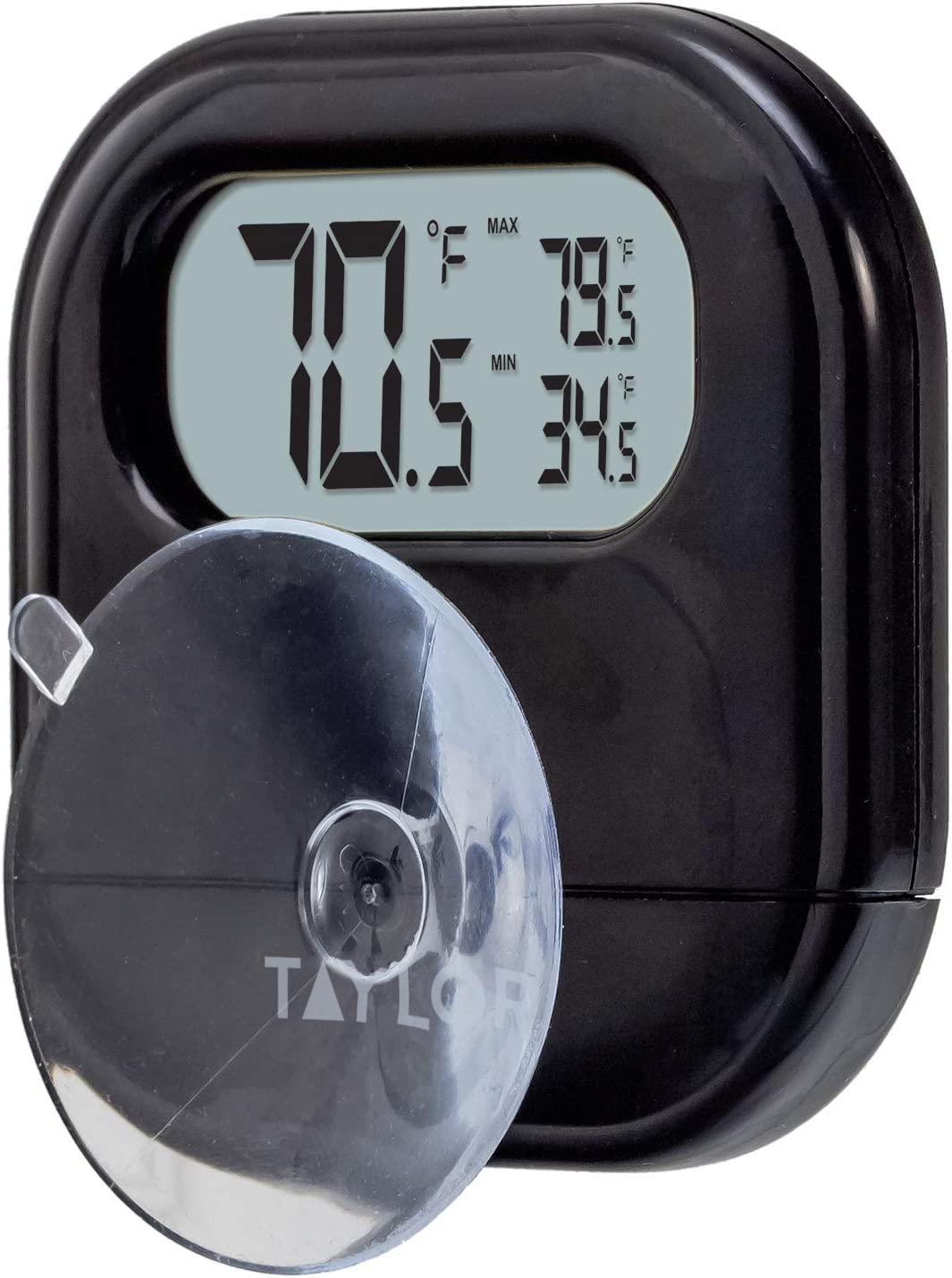 Taylor Precision Products Digital Indoor/Outdoor Thermometer with Reversible Suction Cup