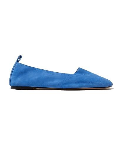Damen Blue Suede Ballerina 181BZ0423 (37 EU Rabatt Echte fSJp9I
