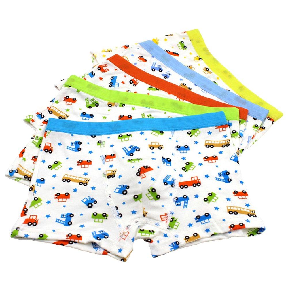 Boys Underwear , Boys Boxer Briefs Toddler boy Underwear Car print 5 of Pack Jiaboy