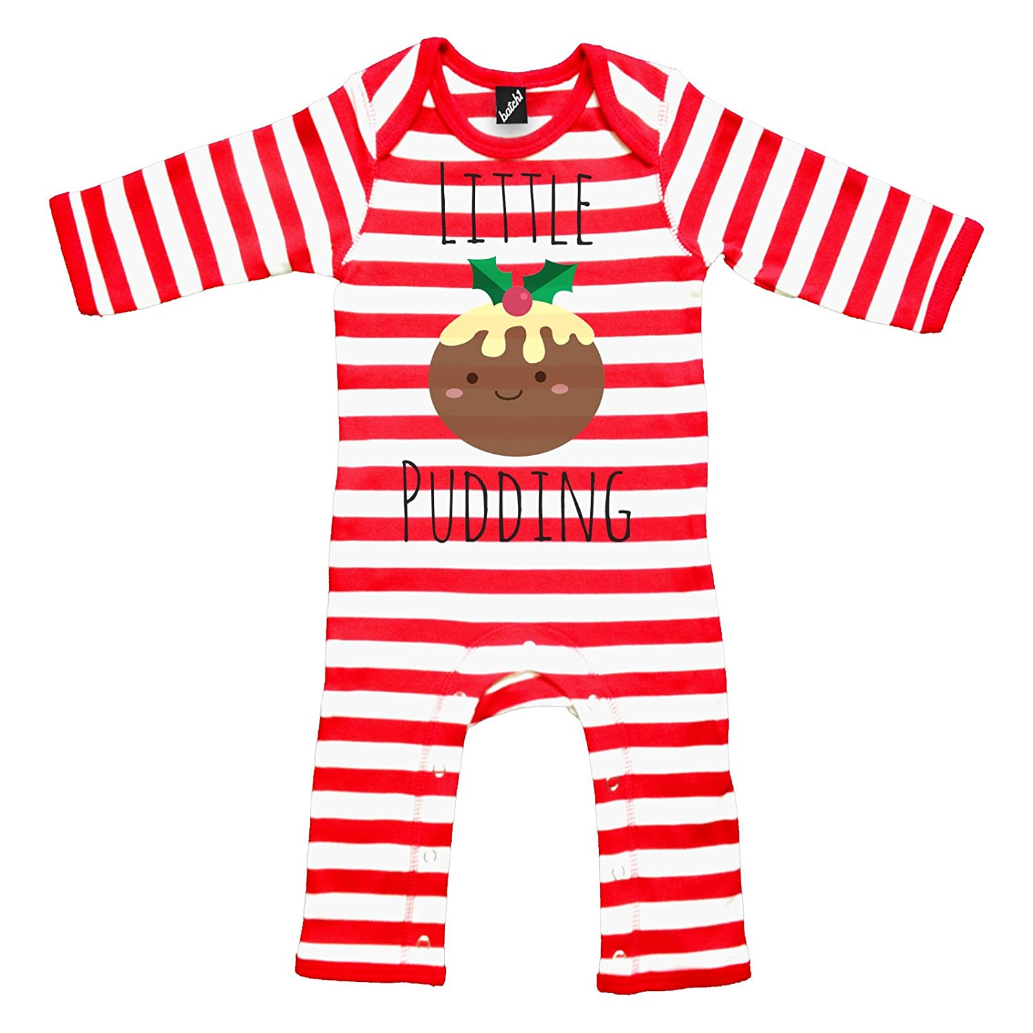 Batch1 Little Pudding Novelty Christmas Festive Xmas Long Sleeve Babygrow