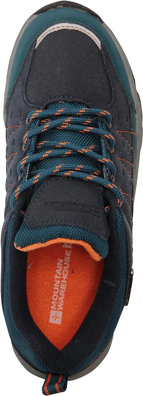 Zapatillas de Correr con Suela de Gran Agarre Zapatillas Impermeables Zapatillas de Verano con Empeine Azul petr/óleo 30.5 Mountain Warehouse Zapatillas Stampede para ni/ños