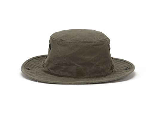 40b4f59d84aed Image Unavailable. Image not available for. Color  Tilley Endurables T3  Wanderer Cotton Duck Medium Brim Olive Hat