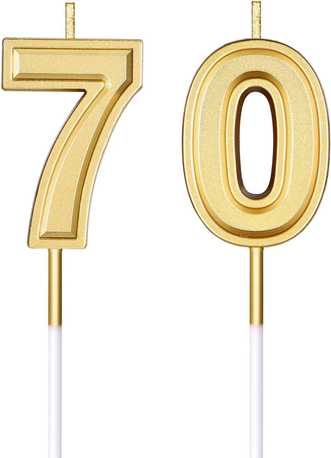 Frienda Geburtstag Kerzen Kuchen Nummer Kerzen Alles Gute zum Geburtstag Kuchen Kerzen Topper Dekoration f/ür Kinder Erwachsene und Alte Menschen Geburtstag Hochzeitstag Feier Lieferung Nummer 70