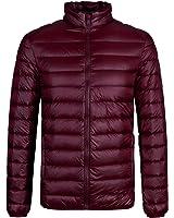 ザクロ) TheCLO コート・ジャケット 超軽量 無地 立ち襟 ポケット付き ダウンコート メンズ ダウンジャケット 多色