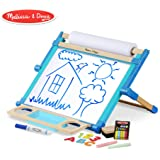 """Melissa & Doug Deluxe Double-Sided Tabletop Easel (Arts & Crafts, Sturdy Wooden Construction, 42 Pieces, 17.5"""" H x 20.75"""" W x 2.75"""" L)"""