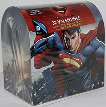 Valentineu0027s Day Mailbox With 32 Valentine Cards (Superman Man Of Steel)