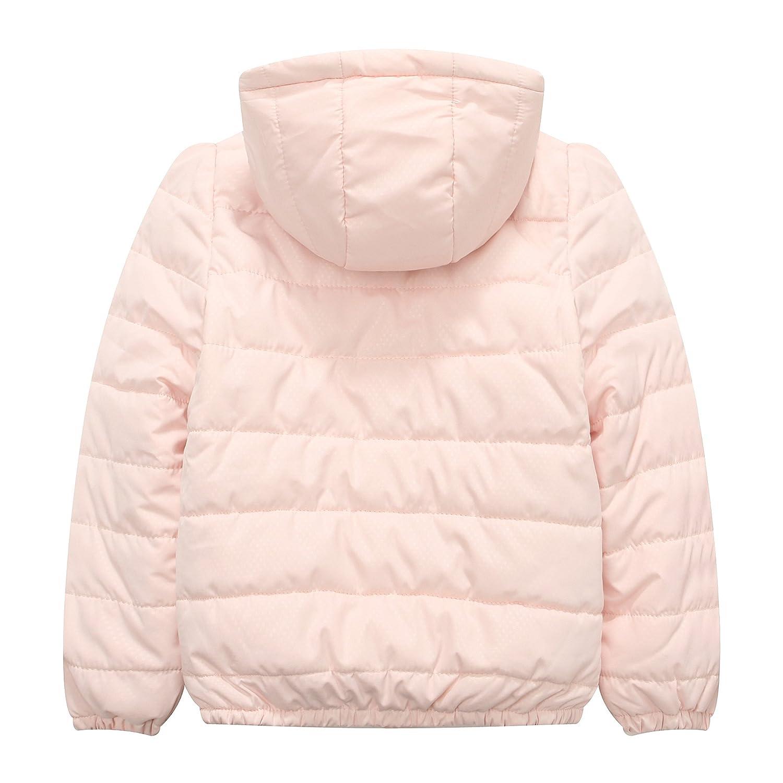 Richie House Big Girls Padding Jacket Ruffled Placket Rh1060