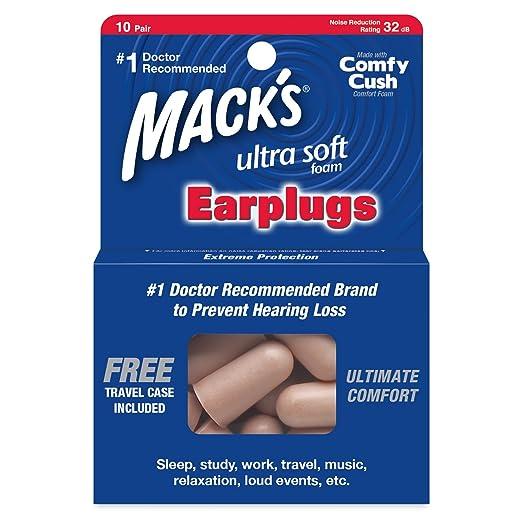 3 opinioni per Ultra Tappi per le orecchie Suono Sicuro di Mack (10 coppie)