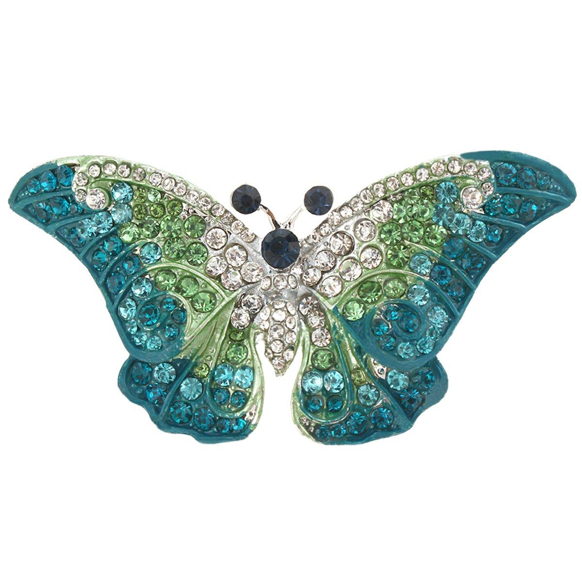 TENYE Women's Austrian Crystal Party Elegant Butterfly Insect Animal Brooch Tn4OJ3K