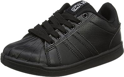Black Trainers Casual School Shoe