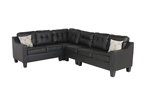 Oliver and Smith Sectional Sofa, Black