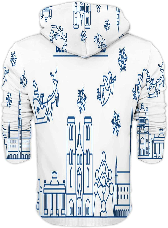 Line Art Seamless Pattern No.336,Mens Print 3D Fashion Hoodies Sweatshirts S