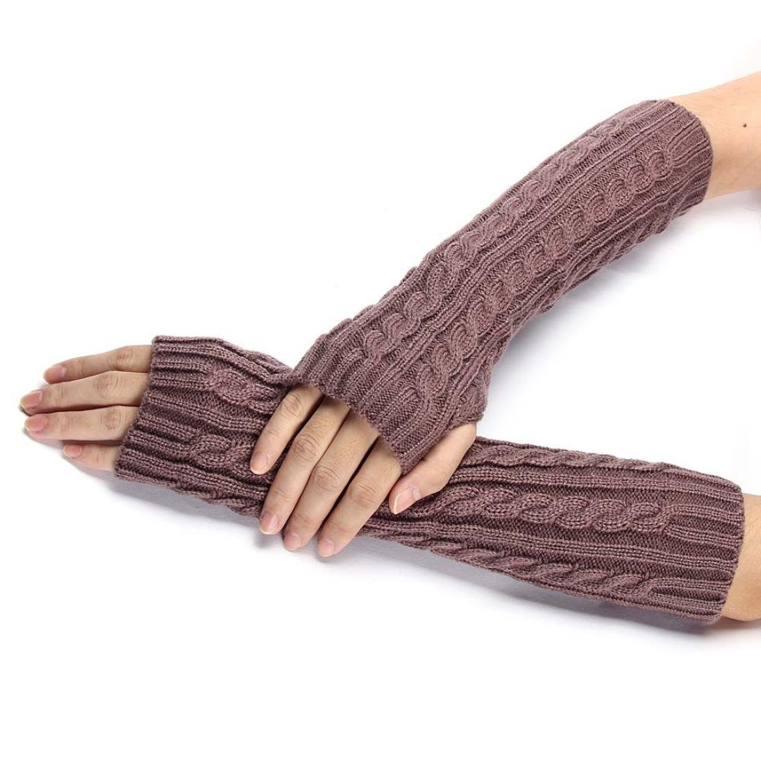 Changeshopping Knitted Arm Fingerless Winter Gloves Unisex Soft Warm Mitten (Black) changeshopping 1 Changeshopping510