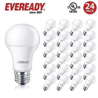 Eveready Led Light Bulbs, Non-Dimmable, 800 Lumens, 2700K Soft White Color, 9-Watt (60W Bulb Equivalent), A19 E26 Base, UL Listed- 24 Pack
