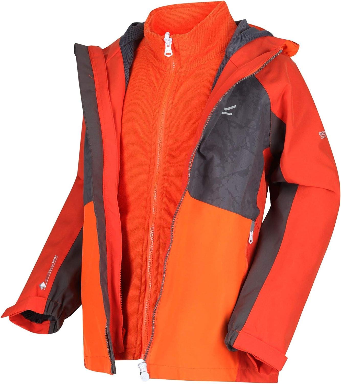 Beb/é-Ni/ños Regatta  Hydrate IV Reflective Waterproof 3-in-1 Jacket Chaqueta 3 en 1