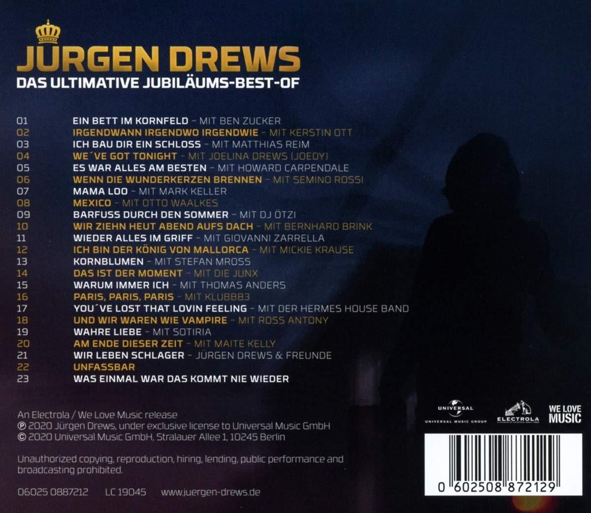 Drews Jurgen Das Ultimative Jubilaums Best Of Amazon Com Music