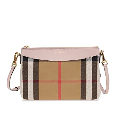 ab7c8df01a6 Image Unavailable. Image not available for. Color: Burberry Women's House  Check and Clutch Bag Pale Orchid