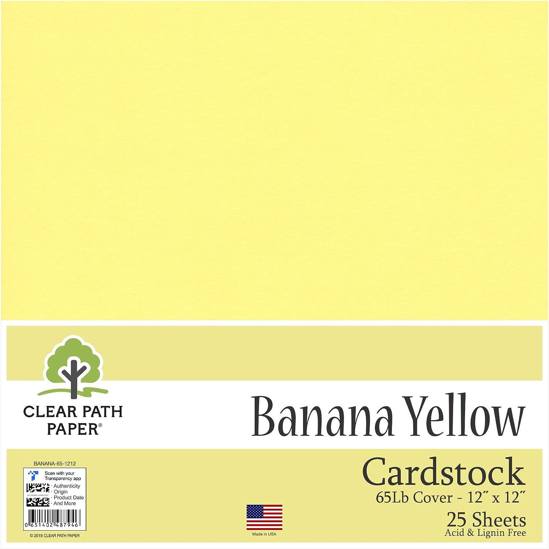 Banana amarillo – Cartulina de 12 x 12 pulgadas – 65LB Cover ...