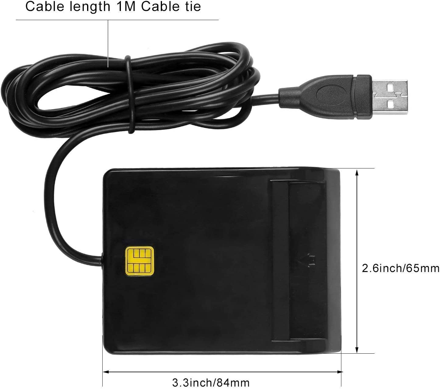 Compatible with Mac OS STOTOY DOD Military USB CAC Smart Card Reader Win