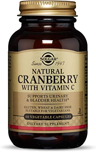 Solgar Natural Cranberry with Vitamin C, 60 Vegetable Capsules