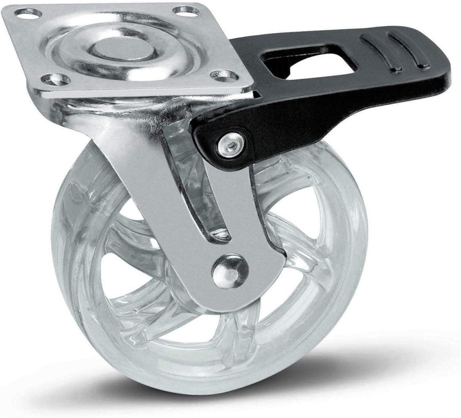SO-TECH® Rueda giratoria para Mueble Color Transparente Ø 75 mm ...