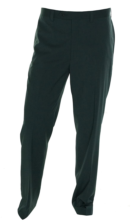RALPH LAUREN Navy Textured Flat Front New Mens Finished Dress Pants