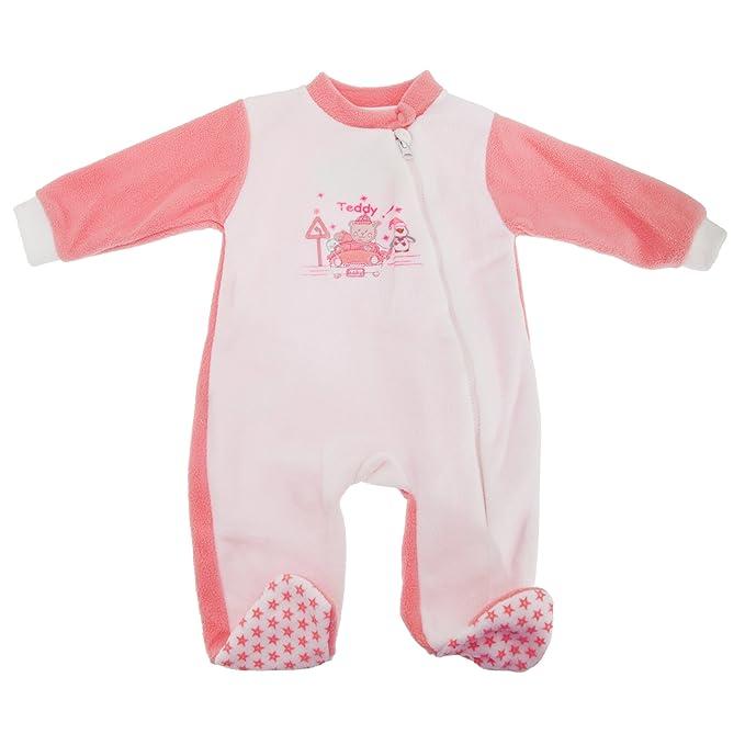 Pijama de invierno para niños/niñas (6-9 meses/Rosa)