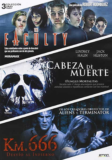Pack: The Faculty + Cabeza De Muerte + Km. 666 [DVD]: Amazon.es: Clea Duvall, Lindsey Haun, Jeremy Sisto, Robert Rodríguez, Paddy Breathnach, Rob Schmidt, Clea Duvall, Lindsey Haun: Cine y Series TV