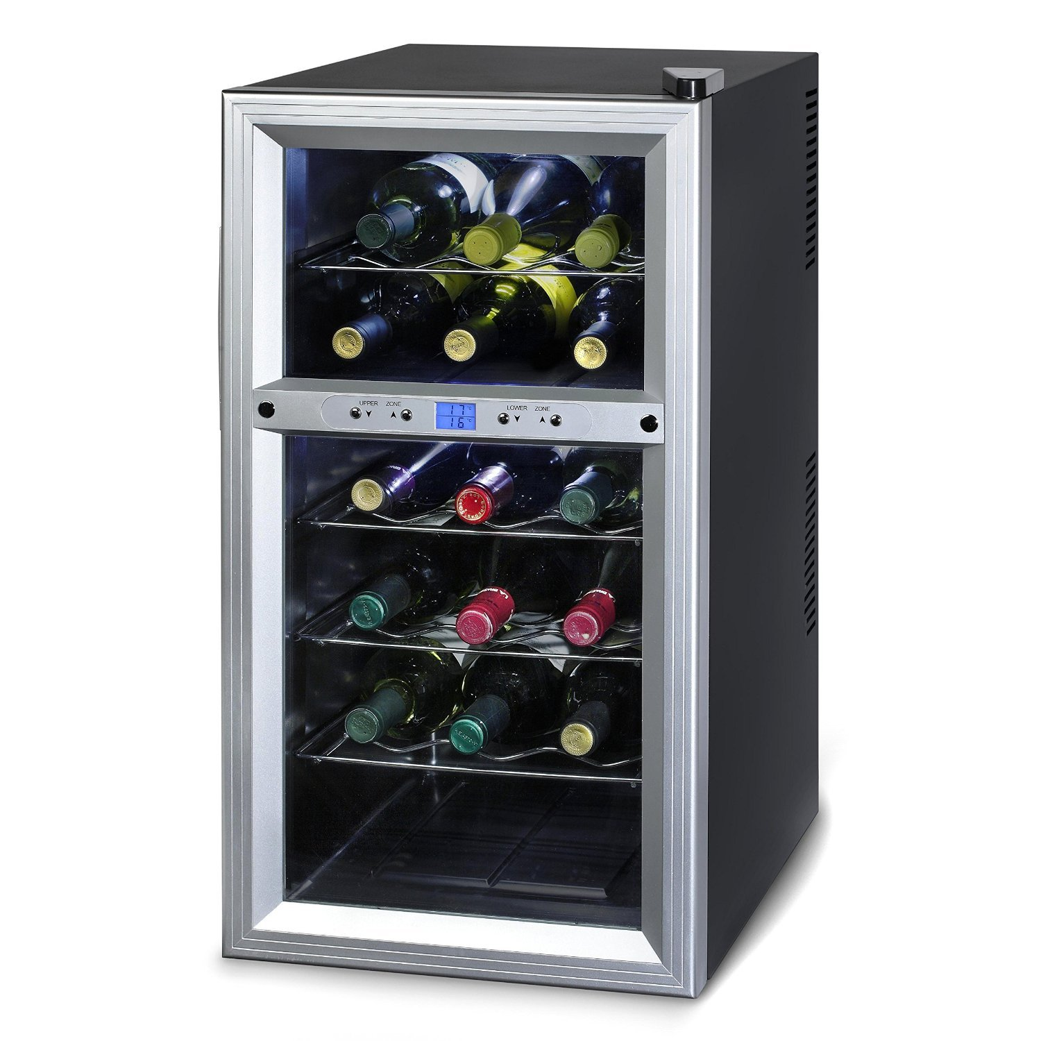 Kaloric Wine Cooler Wcl20629 Rack 18 Bottle Two Zone , Stainless Steel Including Floor Standing ,New Air ,Energy Efficientfeatures