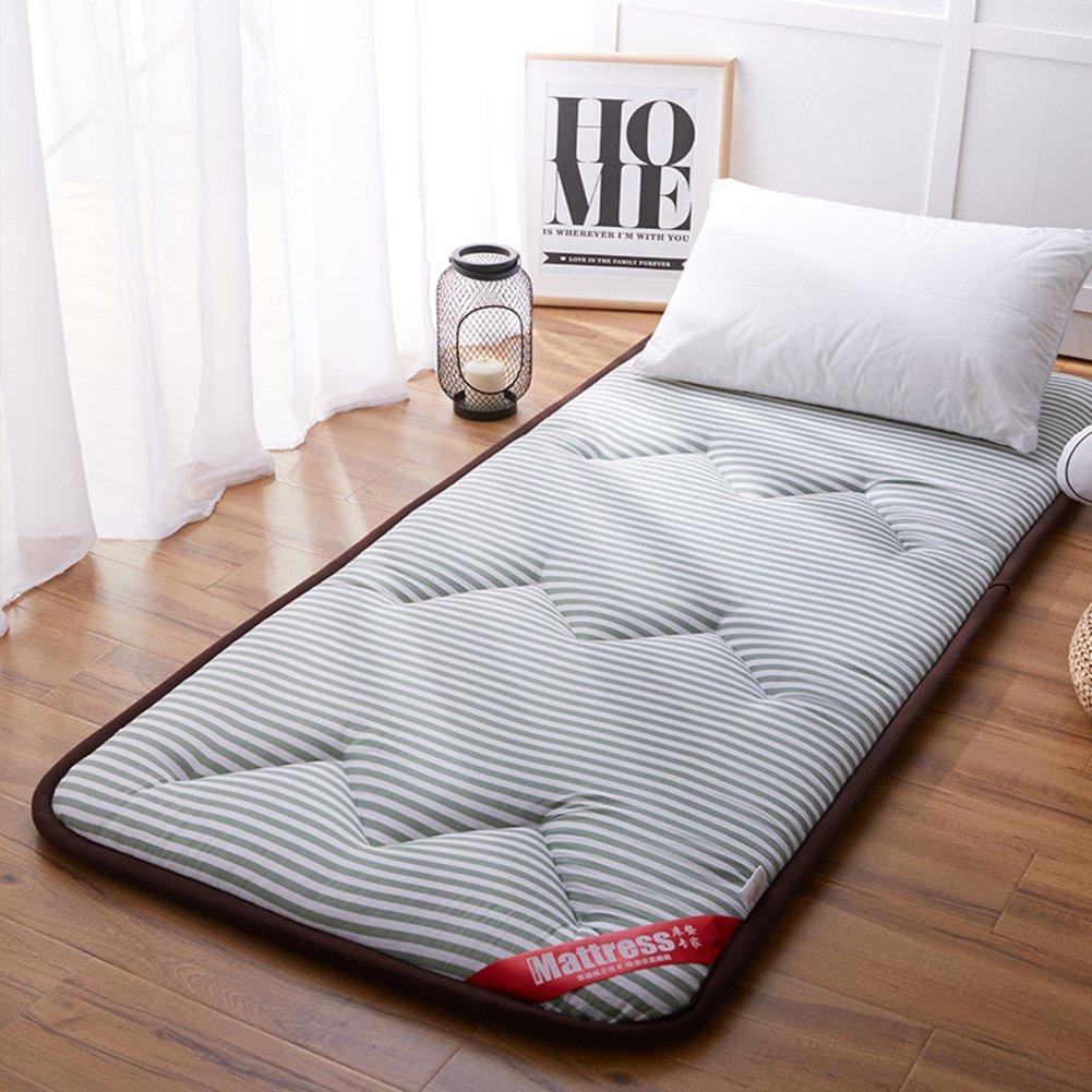 A 180x200cm(71x79inch) Washed Cotton Sleeping Floor mat Futon Mattress pad, Ergonomics Tatami Mattress Topper Japanese Bed roll for Bay Window Crawling mat-B 90x200cm(35x79inch)