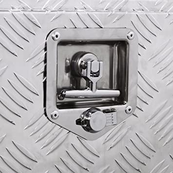 XtremepowerUS 36 Aluminum Heavy Duty Underbody Tool Box Trailer Tote Flatbed Storage Pickup ATV Truck RV w//Built-in Lock with Keys