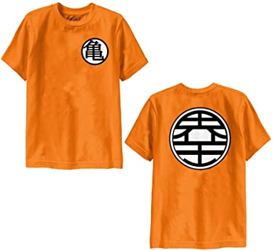 Amazon Dragon Ball Z Kame Symbol Orange Mens T Shirt Clothing