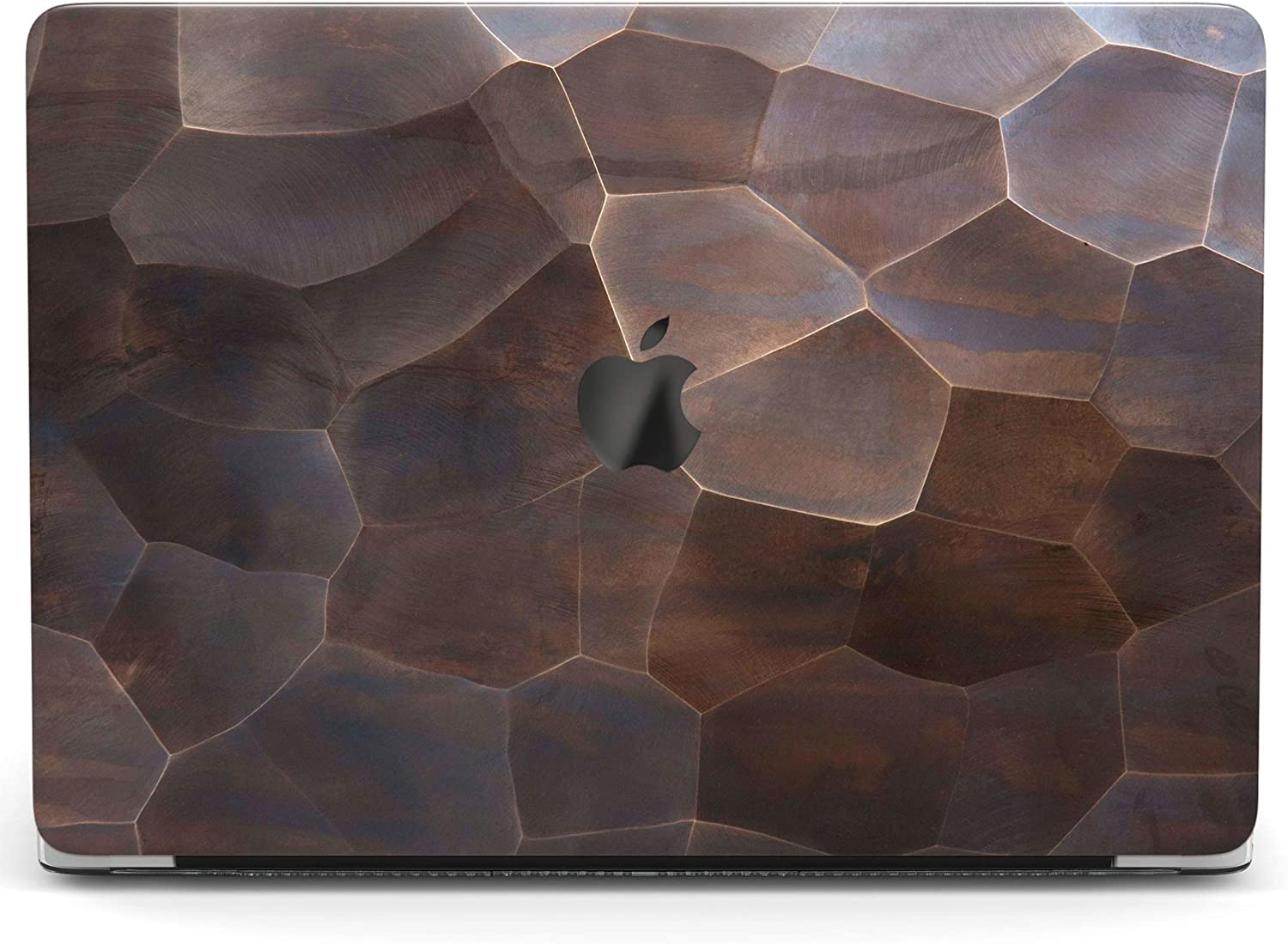 Wonder Wild Case for MacBook Air 13 inch Pro 15 2019 2018 Retina 12 11 Apple Hard Mac Protective Cover Touch Bar 2017 2016 2020 Plastic Laptop Print Tree Chips Bronze Wooden Mosaic Brown Tile Minimal