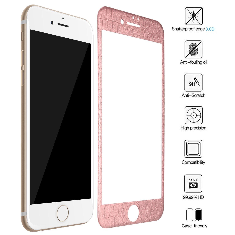 iPhone 8 Schutzfolie iPhone 7 Panzerglas ZXK CO Full Screen 3D Curved Panzerglas Displayschutzfolie für iPhone 8 7 4 7 Zoll Vollständige Abdeckung