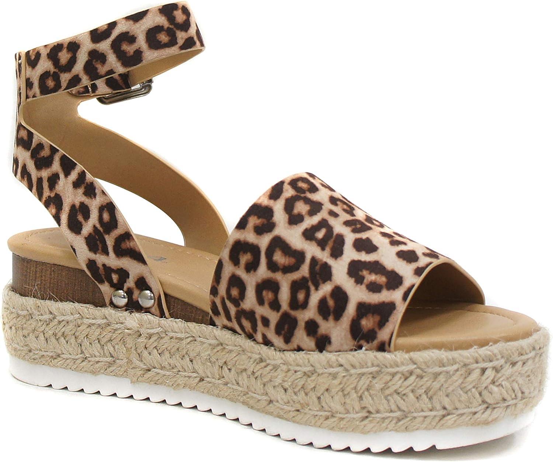 espadrilles flatform wedge buckle open toe sandals