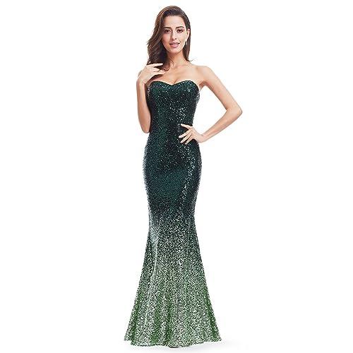 Ever Pretty Womens V Neck Sparkling Gradual Sequin Mermaid Evening Dress Prom Dress 07001