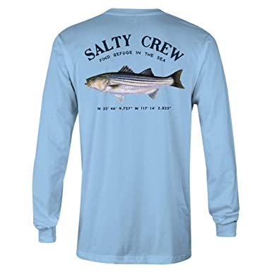 online store d3b3b 255d5 Salty Crew Men s Striper Long Sleeve Tee, Light Blue, Small
