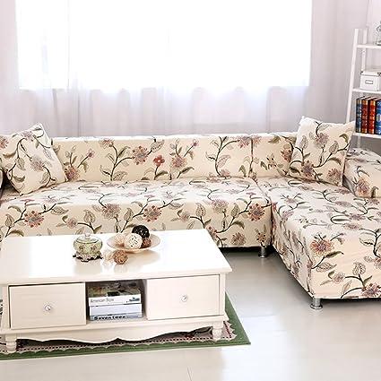 HYSENM 1/2/3/4 Seater Sofa Cover Home Décor Stretch Elastic Sofa