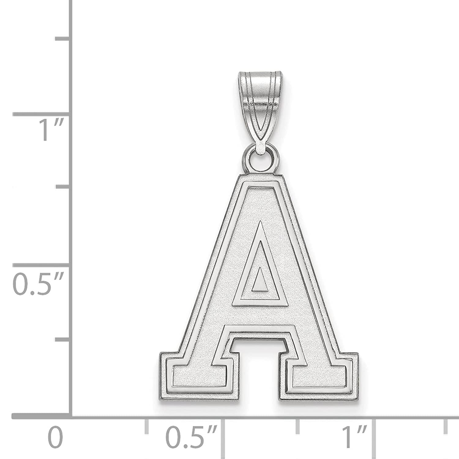 925 Sterling Silver Rhodium-plated Laser-cut U.S Military Academy Large Pendant