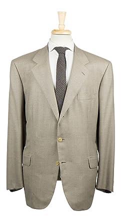 Amazon.com: Brioni Caqui café Palatino Super 150 traje de ...