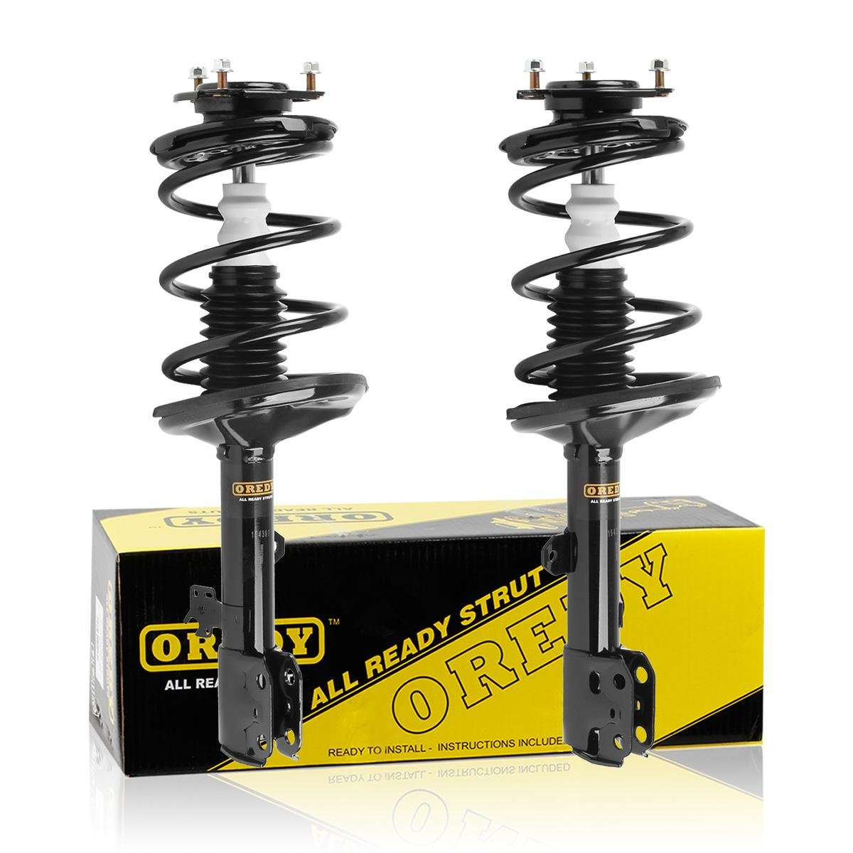 Outlet Front Pair 2 Pieces Complete Quick Struts Shock Coil Spring 2001 Toyota Rav4 Kit Assembly For 2002