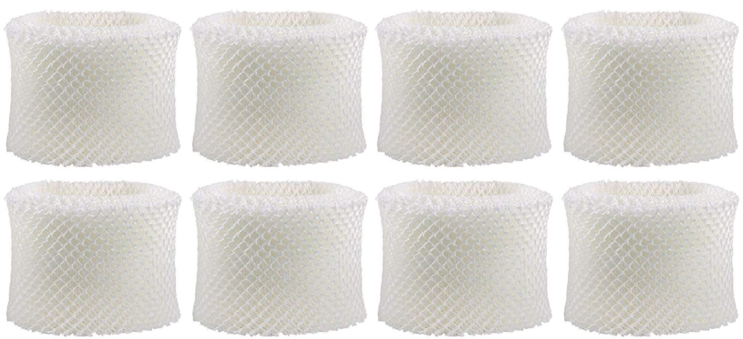 Nispira 8 Packs Humidifier Wick Filter Replacement Compatible with Holmes HWF75 HWF75CS HWF75PDQ-U Filter D Fits White Westinghouse, Sunbeam by Nispira